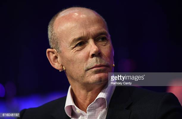 Dublin Ireland 21 October 2016 Former England rugby head coach Sir Clive Woodward speaking during the One Zero Conference at the RDS in Dublin