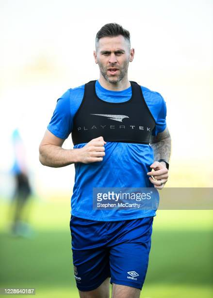 Dublin Ireland 21 September 2020 Daryl Murphy of Waterford goes through some individual running prior to the SSE Airtricity League Premier Division...