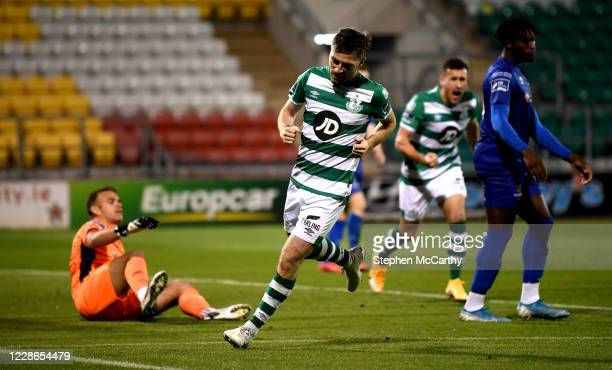 Dublin Ireland 21 September 2020 Jack Byrne of Shamrock Rovers after scoring his side's fourth goal during the SSE Airtricity League Premier Division...