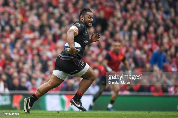 Dublin Ireland 22 April 2017 Billy Vunipola of Saracens during the European Rugby Champions Cup SemiFinal match between Munster and Saracens at the...