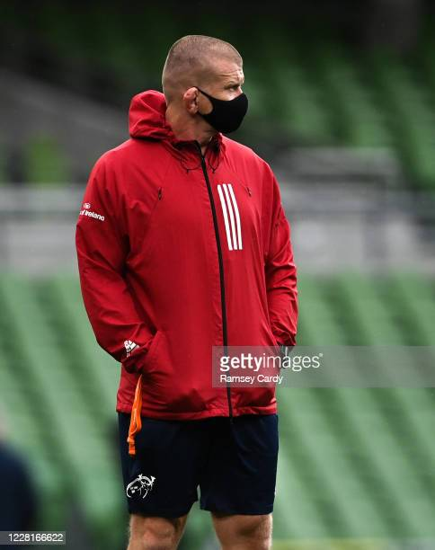 Dublin , Ireland - 22 August 2020; Munster forwards coach Graham Rowntree ahead of the Guinness PRO14 Round 14 match between Leinster and Munster at...