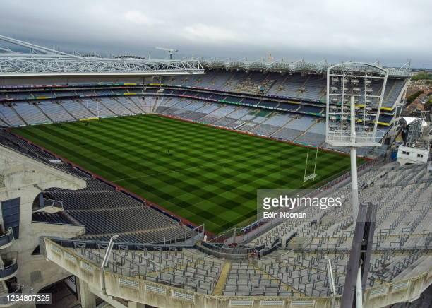 Dublin , Ireland - 22 August 2021; A general view of Croke Park in Dublin before the GAA Hurling All-Ireland Senior Championship Final match between...