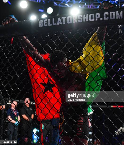 Dublin , Ireland - 22 February 2020; Iamik Furtado reacts following his defeat to Kiefer Crosbie in their contract weight bout at Bellator 240 in the...