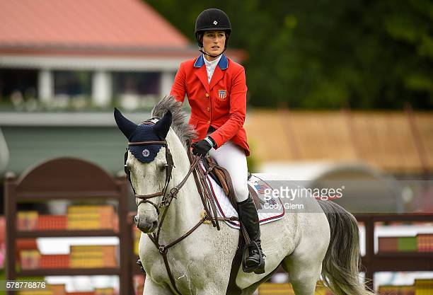 Dublin Ireland 22 July 2016 Jessica Springsteen USA competing on Cynar VA during the Furusiyya FEI Nations Cup presented by Longines at the Dublin...