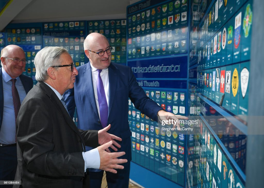 President of the European Commission Jean-Claude Juncker Visits Croke Park