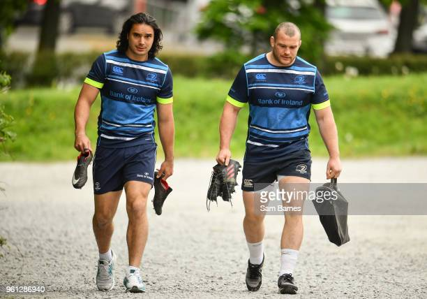 Dublin Ireland 22 May 2018 James Lowe and Jack McGrath arrive ahead of Leinster Rugby squad training at UCD in Belfield Dublin