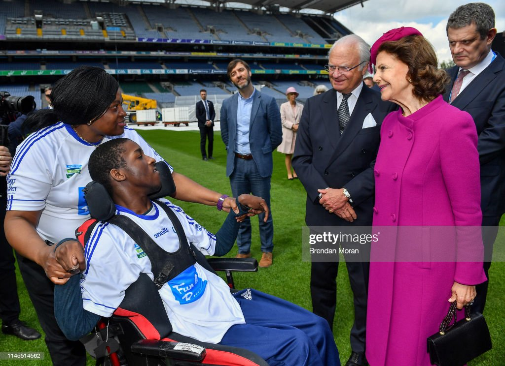 IRL: Swedish Royal Visit to Croke Park GAA Stadium in Dublin