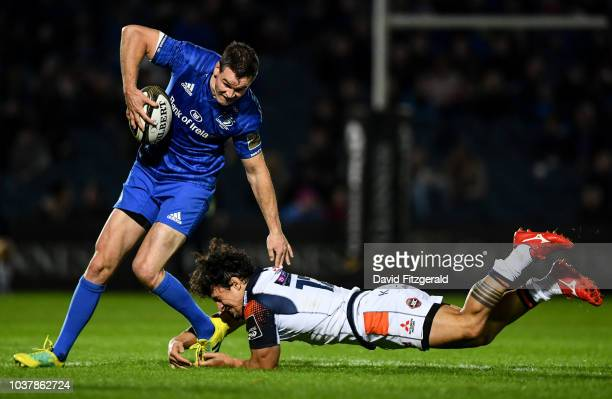 Dublin Ireland 22 September 2018 Jonathan Sexton of Leinster in action against Chris Dean of Edinburgh during the Guinness PRO14 Round 4 match...