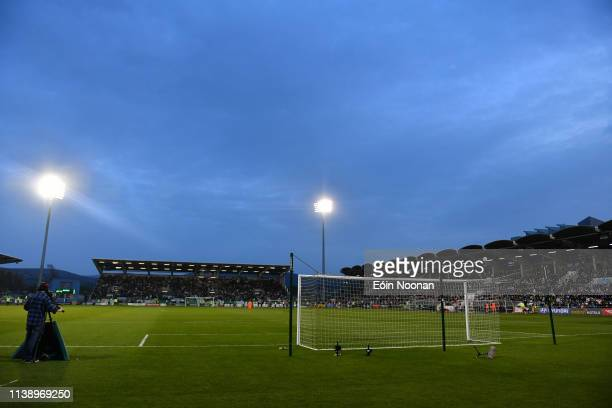 Dublin Ireland 23 April 2019 A general view of Tallaght stadium during the SSE Airtricity League Premier Division match between Shamrock Rovers at...
