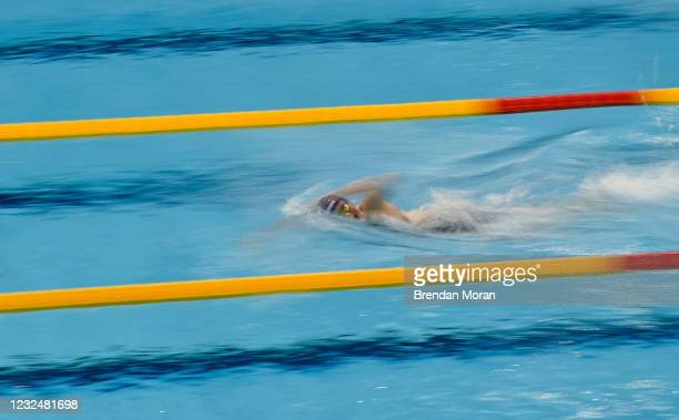 Dublin , Ireland - 23 April 2021; Victoria Catterson of Ards SC competes in the 200 metre freestyle on day four of the Irish National Swimming Team...