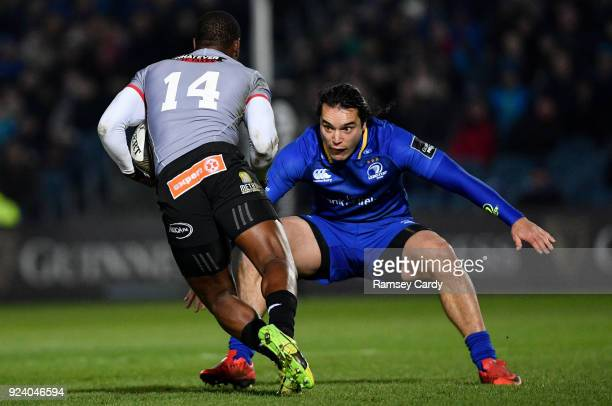 Dublin Ireland 23 February 2018 James Lowe of Leinster in action against Michael Makase of Southern Kings during the Guinness PRO14 Round 16 match...
