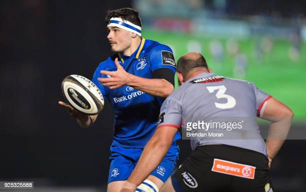 Dublin Ireland 23 February 2018 Max Deegan of Leinster during the Guinness PRO14 Round 16 match between Leinster and Southern Kings at the RDS Arena...