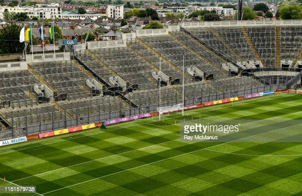 Dublin Ireland 23 June 2019 A general view of Croke Park showing an empty Hill 16 before the gates opened for the Leinster GAA Football Senior...