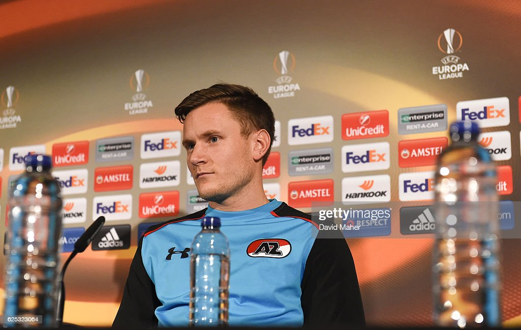 AZ Alkmaar Squad Training and Press Conference