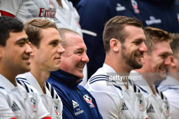 Dublin Ireland 23 November 2018 Head coach Gary Gold with his players during the USA Rugby Captain's Run at the Aviva Stadium in Dublin