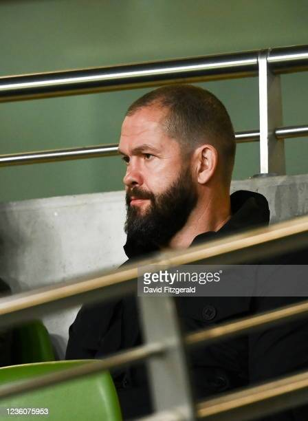Dublin , Ireland - 23 October 2021; Ireland head coach Andy Farrell looks on during the United Rugby Championship match between Connacht and Ulster...