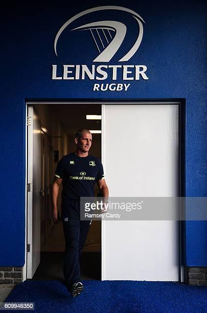 Dublin , Ireland - 23 September 2016; Leinster senior coach Stuart Lancaster ahead of the Guinness PRO12 Round 4 match between Leinster and Ospreys...