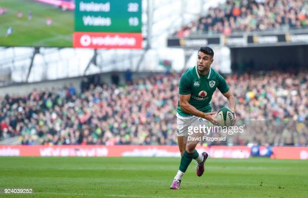 Dublin Ireland 24 February 2018 Conor Murray of Ireland during the NatWest Six Nations Rugby Championship match between Ireland and Wales at the...
