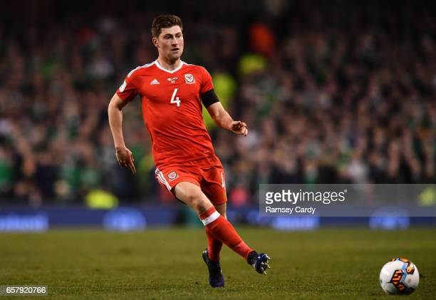 Dublin Ireland 24 March 2017 Ben Davies of Wales during the FIFA World Cup Qualifier Group D match between Republic of Ireland and Wales at the Aviva...