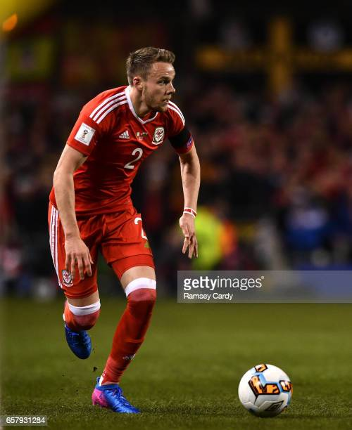 Dublin Ireland 24 March 2017 Chris Gunter of Wales during the FIFA World Cup Qualifier Group D match between Republic of Ireland and Wales at the...