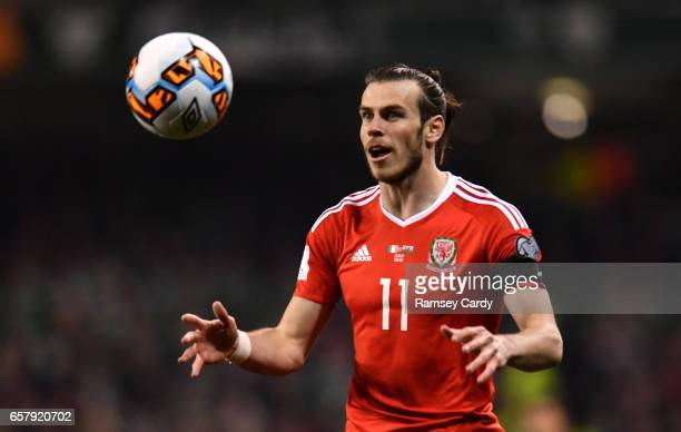 Dublin Ireland 24 March 2017 Gareth Bale of Wales during the FIFA World Cup Qualifier Group D match between Republic of Ireland and Wales at the...