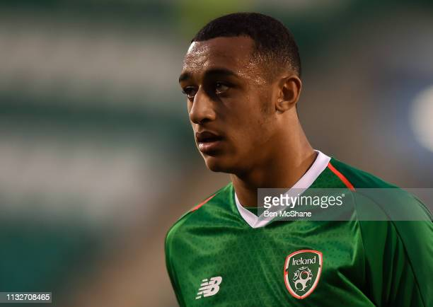 Dublin Ireland 24 March 2019 Adam Idah of Republic of Ireland during the UEFA European U21 Championship Qualifier Group 1 match between Republic of...
