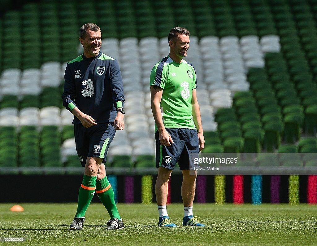 Republic of Ireland Squad Training : News Photo