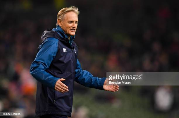 Dublin Ireland 24 November 2018 Ireland head coach Joe Schmidt prior to the Guinness Series International match between Ireland and USA at the Aviva...