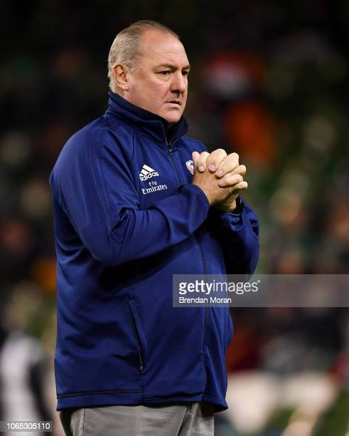 Dublin Ireland 24 November 2018 USA head coach Gary Gold prior to the Guinness Series International match between Ireland and USA at the Aviva...