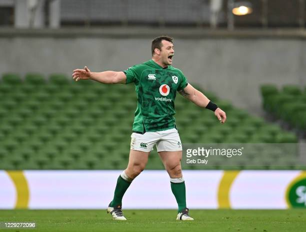 Dublin , Ireland - 24 October 2020; Cian Healy of Ireland during the Guinness Six Nations Rugby Championship match between Ireland and Italy at the...