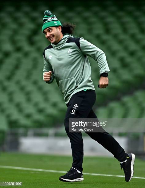 Dublin , Ireland - 24 October 2020; James Lowe of Ireland ahead of the Guinness Six Nations Rugby Championship match between Ireland and Italy at the...