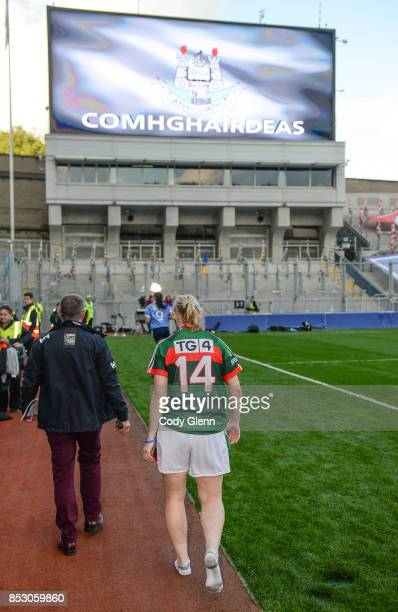 Dublin Ireland 24 September 2017 Cora Staunton walks off the pitch following the TG4 Ladies Football AllIreland Senior Championship Final match...