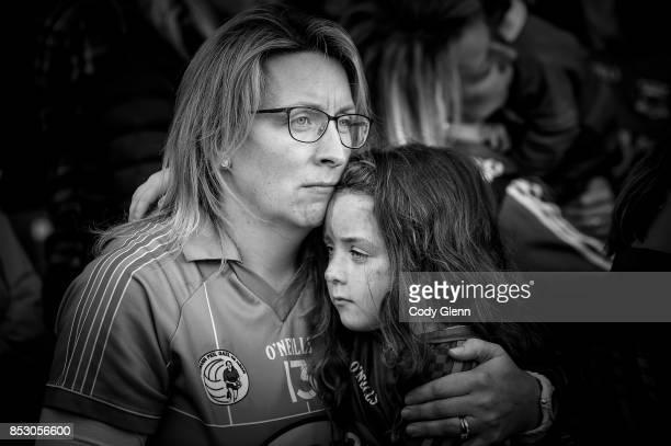 Dublin Ireland 24 September 2017 Mayo supporters following the TG4 Ladies Football AllIreland Senior Championship Final match between Dublin and Mayo...