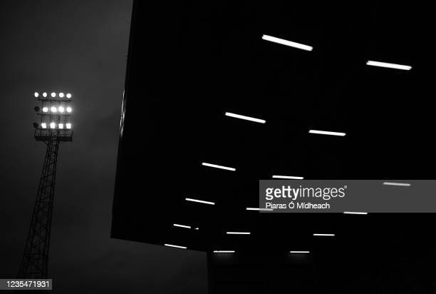Dublin , Ireland - 24 September 2021; A general view of a floodlight and the Jodi Stand before the SSE Airtricity League Premier Division match...