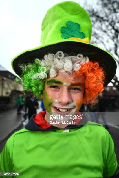 Dublin Ireland 25 February 2017 Ireland supporter Padraig Kinsella from Gorey Co Wexford prior to the RBS Six Nations Rugby Championship game between...