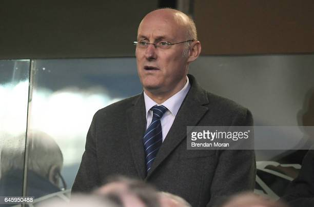Dublin Ireland 25 February 2017 President of the FFR Bernard Laporte prior to the RBS Six Nations Rugby Championship game between Ireland and France...