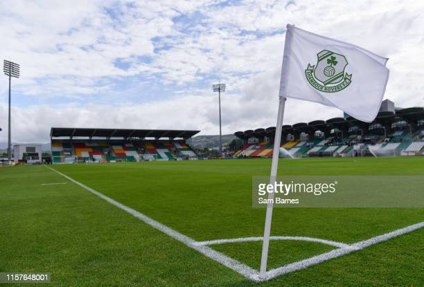 Dublin , Ireland - 25 July 2019; A general view of Tallaght Stadium ahead of the UEFA Europa League 2nd Qualifying Round 1st Leg match between...