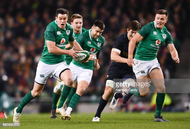 Dublin Ireland 25 November 2017 Jonathan Sexton of Ireland during the Guinness Series International match between Ireland and Argentina at the Aviva...