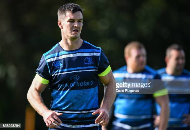 Dublin Ireland 25 September 2017 Jonathan Sexton of Leinster during squad training at UCD Belfield in Dublin