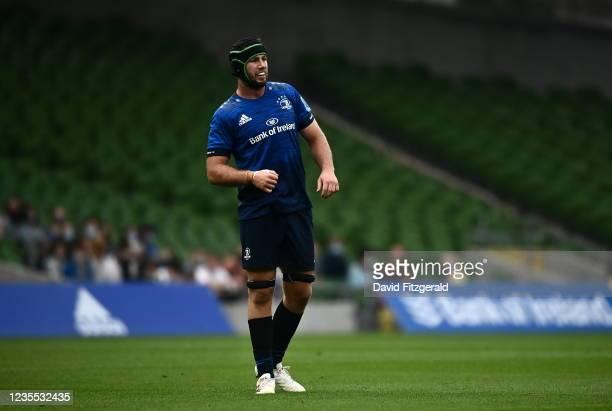 Dublin , Ireland - 25 September 2021; Caelan Doris of Leinster during the United Rugby Championship match between Leinster and Vodacom Bulls at Aviva...