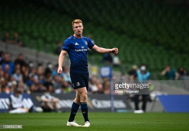 Dublin , Ireland - 25 September 2021; Ciarán Frawley of Leinster during the United Rugby Championship match between Leinster and Vodacom Bulls at...