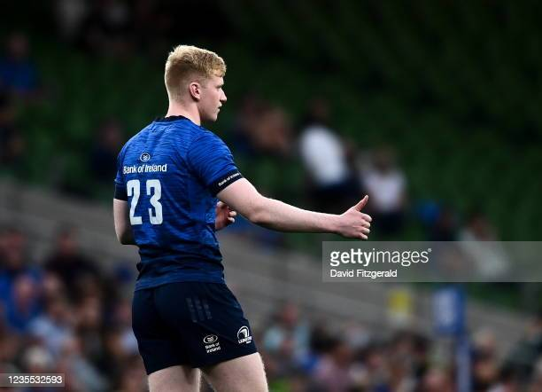 Dublin , Ireland - 25 September 2021; Jamie Osborne of Leinster during the United Rugby Championship match between Leinster and Vodacom Bulls at...