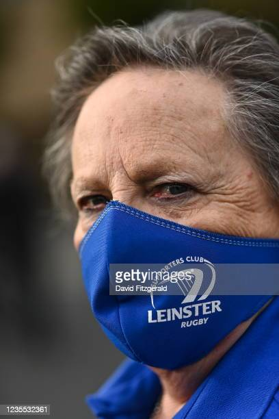Dublin , Ireland - 25 September 2021; Leinster fan club mask prior to the United Rugby Championship match between Leinster and Vodacom Bulls at Aviva...