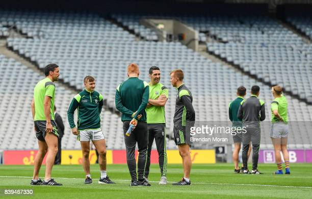 Dublin Ireland 26 August 2017 Kerry players including from left Anthony Maher James O'Donoghue Johnny Buckley Bryan Sheehan and Fionn Fitzgerald walk...