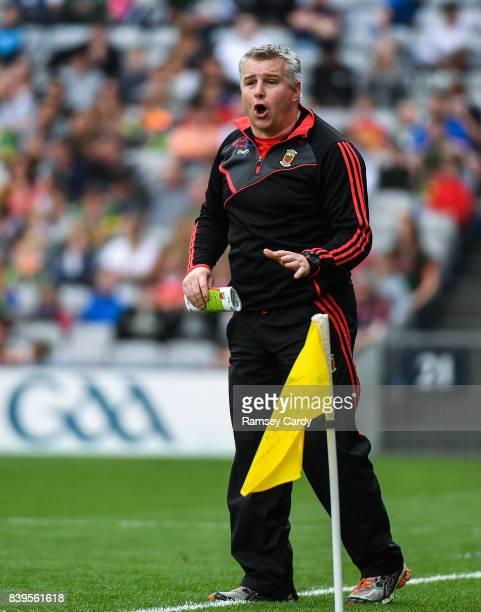 Dublin Ireland 26 August 2017 Mayo manager Stephen Rochford during the GAA Football AllIreland Senior Championship SemiFinal Replay match between...