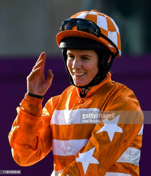 Dublin Ireland 26 December 2019 Rachael Blackmore after winning the Knight Frank Juvenile Hurdle on Aspire Tower during Day One of the Leopardstown...