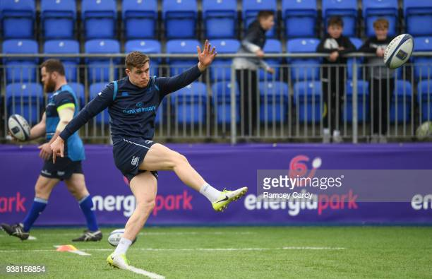 Dublin Ireland 26 March 2018 Garry Ringrose during Leinster Rugby squad training at Energia Park in Donnybrook Dublin