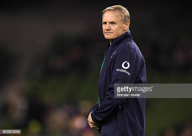 Dublin Ireland 26 November 2016 Ireland head coach Joe Schmidt ahead of the Autumn International match between Ireland and Australia at the Aviva...