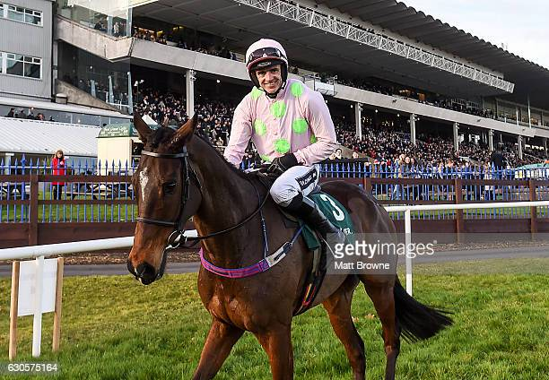 Dublin Ireland 27 December 2016 Ruby Walsh celebrates on Douvan after winning the Paddy Power Cashcard Steeplechase during day two of the...