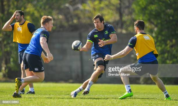 Dublin Ireland 27 March 2017 Mike McCarthy centre of Leinster during a Leinster rugby squad training session at Rosemount UCD in Dublin